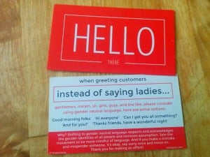 Great message design: Hello there