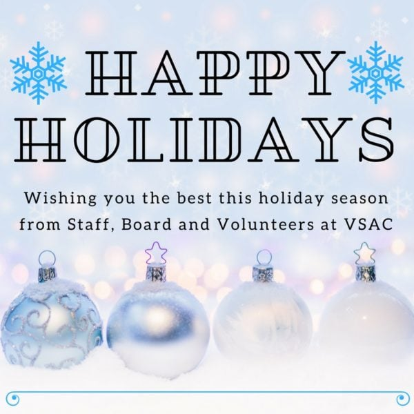 2017 VSAC Holiday Hours