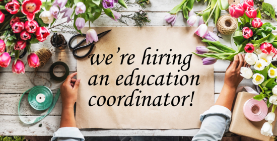 were hiring a new education coordinator