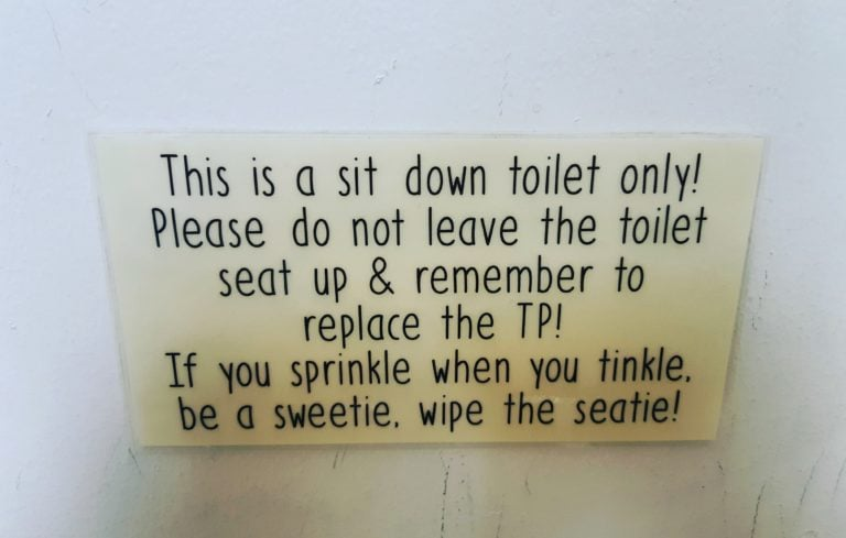 This is a sit down toilet only