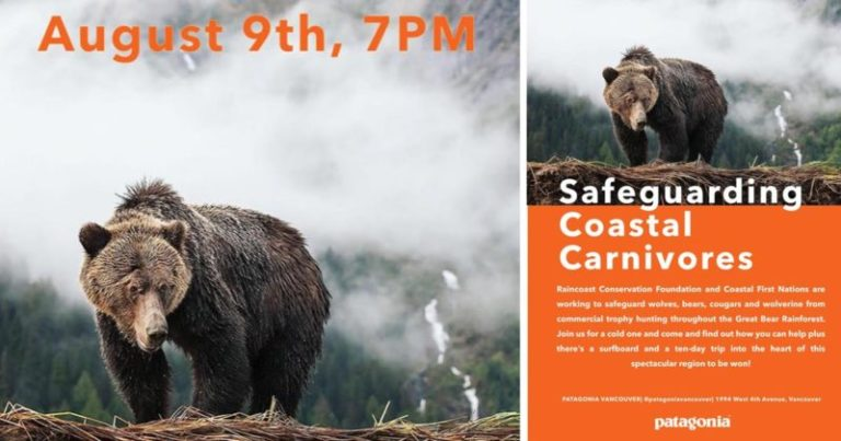 Safeguard Coastal Carnivores with Patagonia Vancouver, August 9