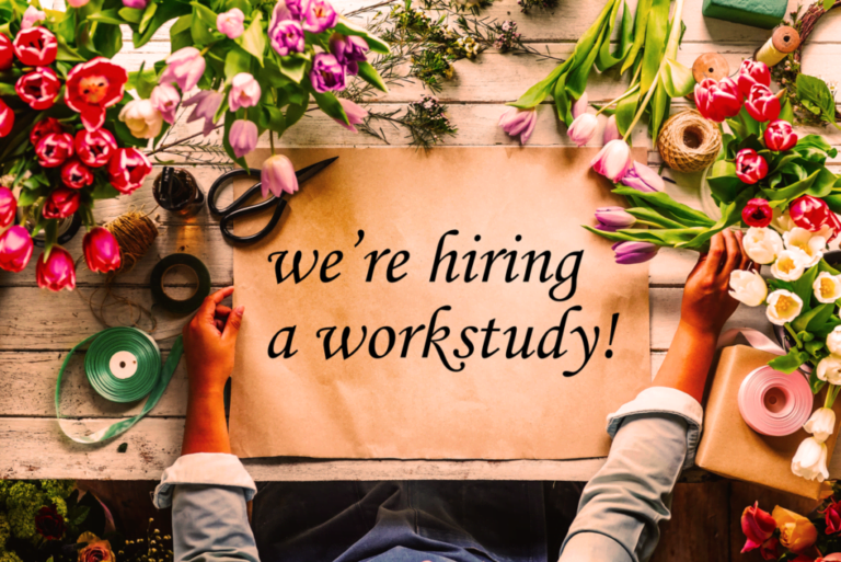 We're hiring a work study student!