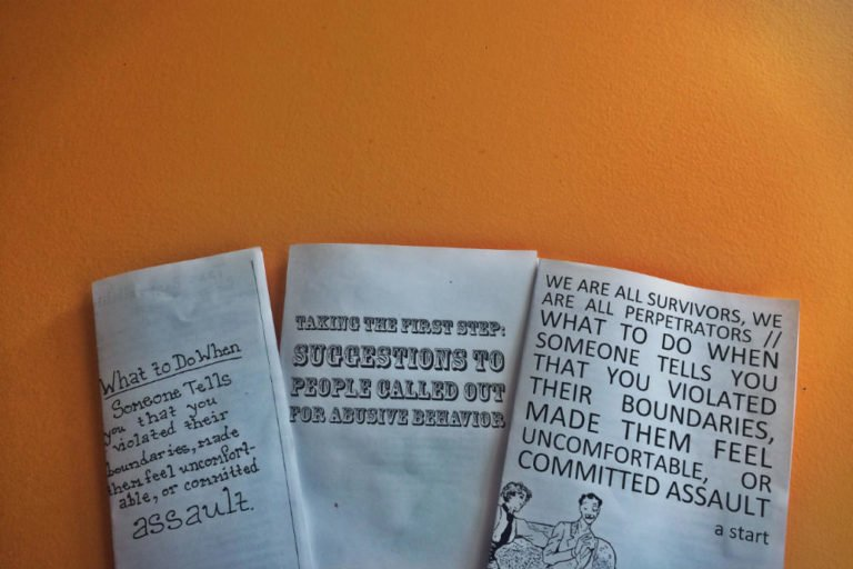 Resource Review: Zines for people who have caused harm