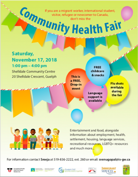 community health fair november 17th