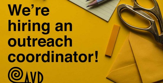 were hiring an outreach coordinator