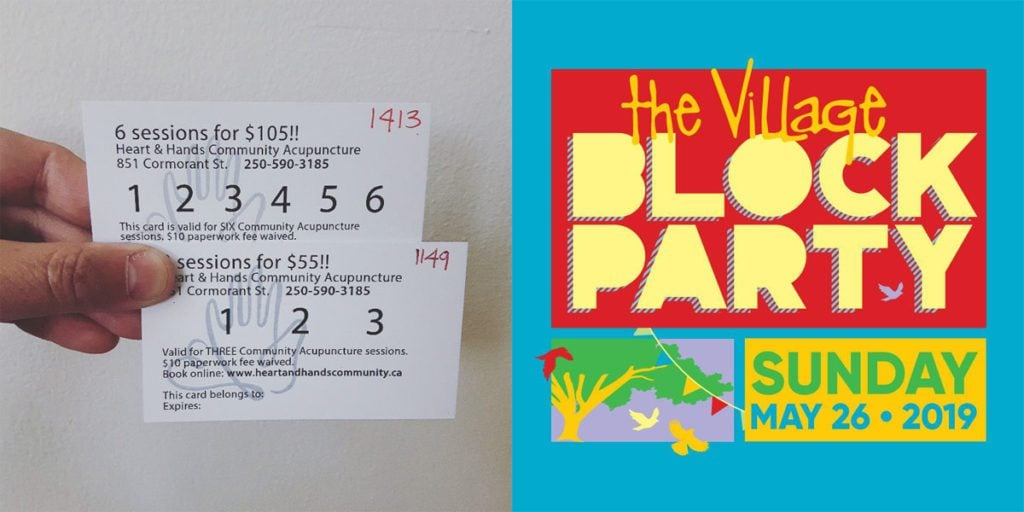 earlybird acupuncture seat sales may 26 31 starting the village block party