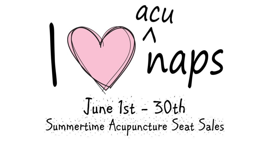 june is summertime acupuncture seat sales