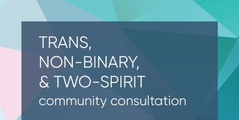 Trans, Non-Binary, and Two-Spirit Community Consultation