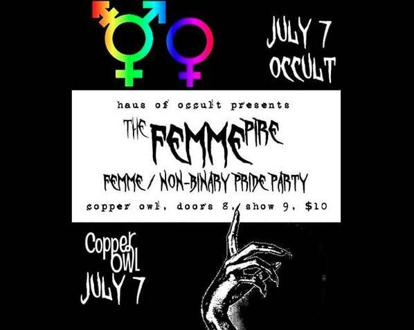 Upcoming events with Haus of Occult and Misfits of Draglesque