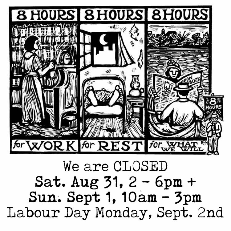 Labour Day Weekend Closures!