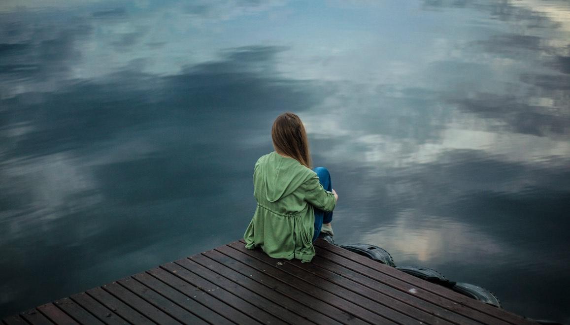 alone unhappy boardwalk