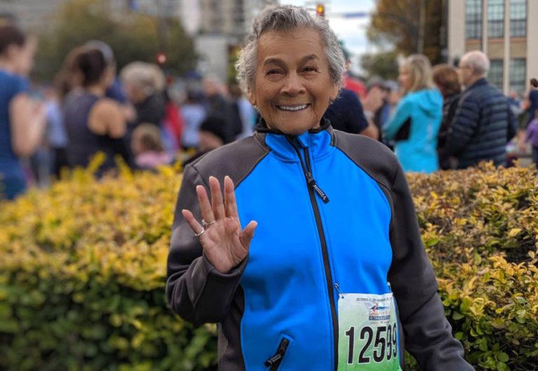 Tito Messer, Stephanie Holbrook and family, do the Victoria Marathon