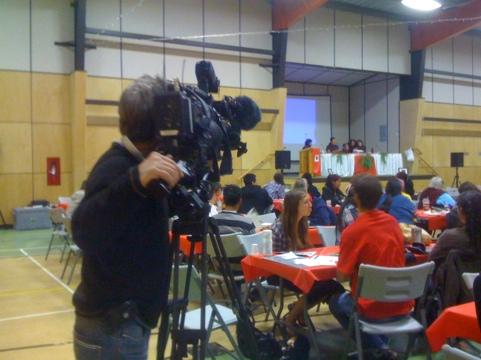 APTN is here Filming
