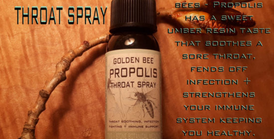 golden bee propolis throat spray