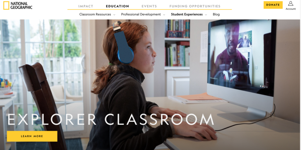 explorer classroom with national geographic