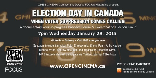 Special Event on Election Fraud: January 28, 2015