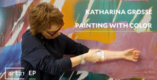 katharina grosse when i started painting i stopped reading