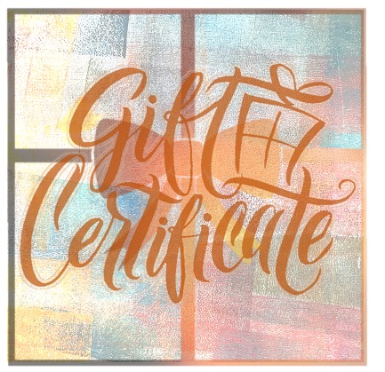 Gift Certificates – Now available in time for the Holidays!
