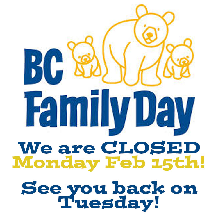 Closure for BC Family Day!