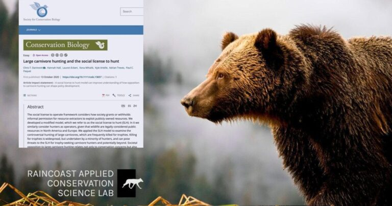 Research: The eroding social license to hunt carnivores