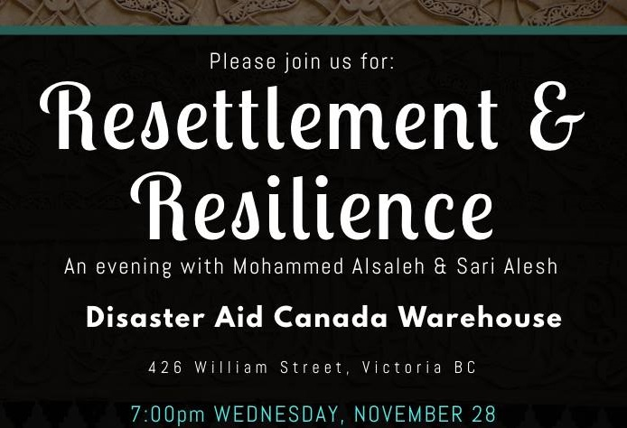 Resettlement and Resilience – An Evening with Mohammed Alsaleh & Sari Alesh