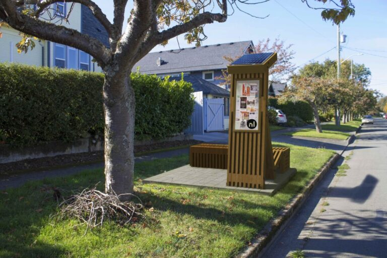 """Street in Victoria Gets a """"Neighbour Hub"""" Emergency Supply Bench"""