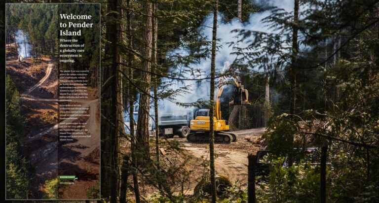 Welcome to Pender Island, where the destruction of a globally rare ecosystem is ongoing