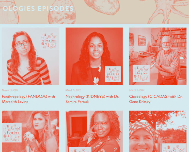 Ologies podcast can teach us heaps about interviews and story telling
