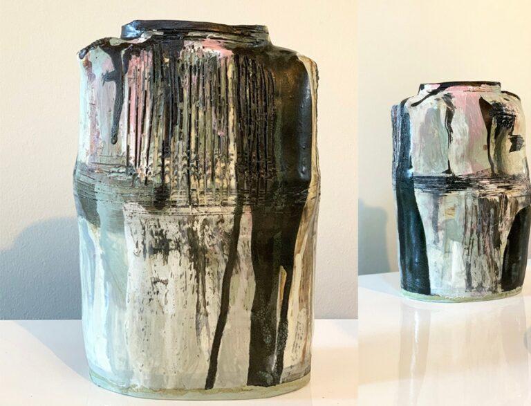 Tall pottery vase (17S)