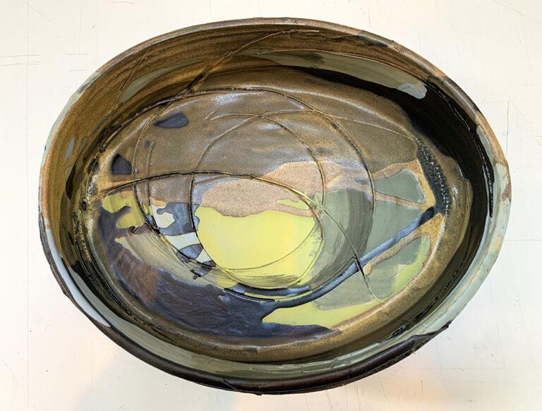Oval Shallow Vase (12L)