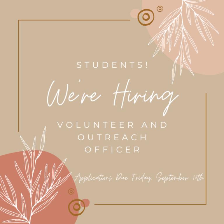 We're Hiring a New Volunteer Officer!