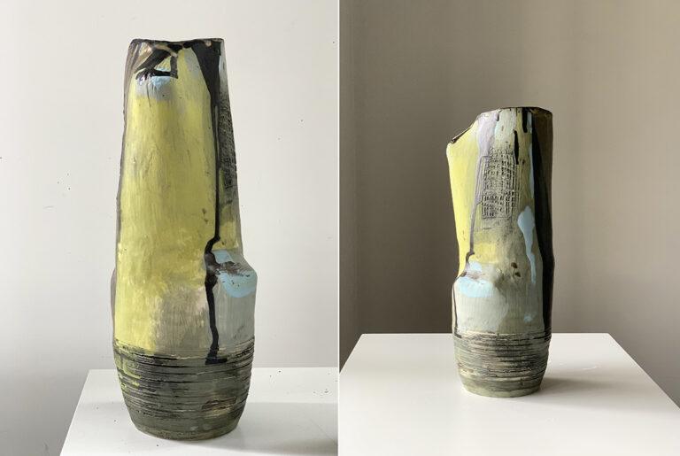 Tall pottery vase (1E)