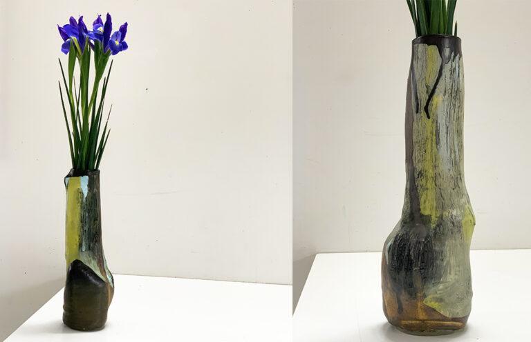 Tall pottery vase (2A)